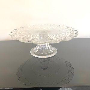 Clear Cake Top Serving Pan Platter